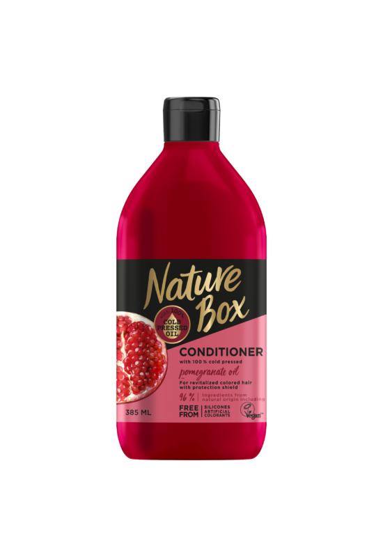 Nature Box balzsam Gránátalma festett hajra 385 ml