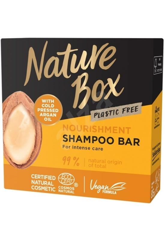 Nature Box szilárd sampon Argán olajjal a puha hajért